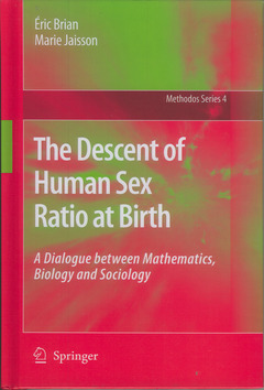 Couverture de l'ouvrage The descent of human sex ratio at birth (POD) (Methodos series, 4)