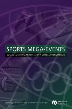 Couverture de l'ouvrage Sports Mega-Events