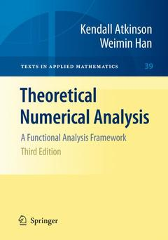 Couverture de l'ouvrage Theoretical Numerical Analysis