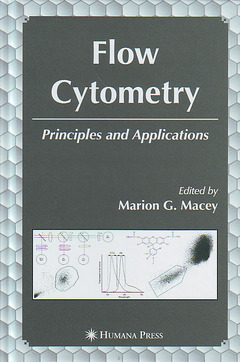 Couverture de l'ouvrage Flow cytometry : Principles and applications