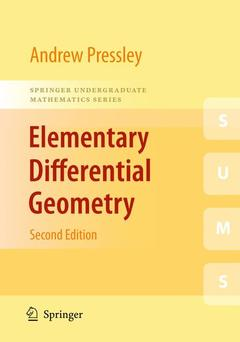 Cover of the book Elementary Differential Geometry (2nd Ed.)