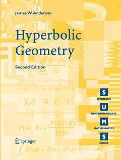 Cover of the book Hyperbolic geometry, (Undergraduate math ematics series),
