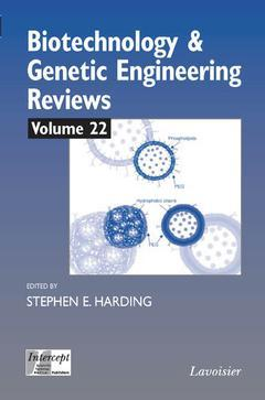 Couverture de l'ouvrage Biotechnology & genetic engineering reviews Vol. 22