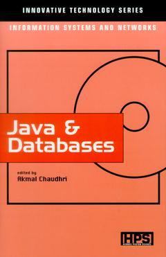 Couverture de l'ouvrage Java and databases