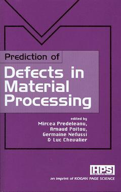 Couverture de l'ouvrage Prediction of Defects in Material Processing
