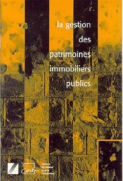 Couverture de l'ouvrage La gestion des patrimoines immobiliers publics (réf. OU08010396) livret orange