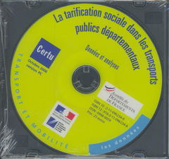 Couverture de l'ouvrage La tarification sociale dans les transports publics départementaux : données et analyses (Les données, transport et mobilité, version PC)