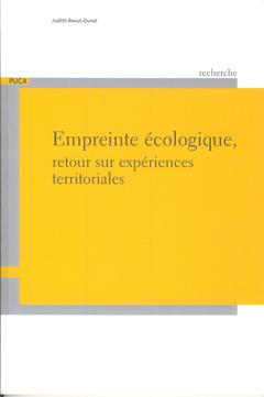 Couverture de l'ouvrage Empreinte écologique : retour sur expériences territoriales