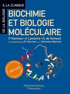 Couverture de l'ouvrage Biochimie et biologie moléculaire