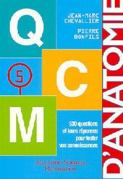 Couverture de l'ouvrage QCM anatomie