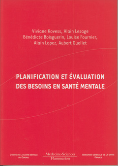 Couverture de l'ouvrage Planification et évaluation des besoins en santé mentale