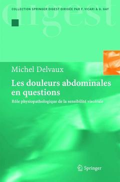 Couverture de l'ouvrage Les douleurs abdominales en questions