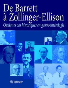 Couverture de l'ouvrage De Barrett à Zollinger-Ellisson