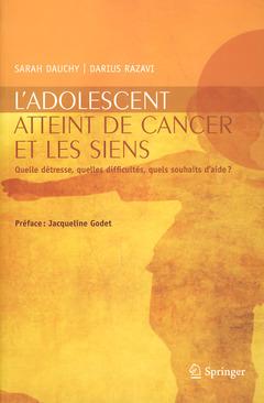 Couverture de l'ouvrage L'adolescent atteint de cancer et les siens