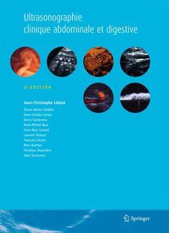 Couverture de l'ouvrage Ultrasonographie clinique abdominale et digestive (2° Éd.)