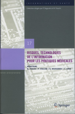 Couverture de l'ouvrage Risques, technologies de l'information pour les pratiques médicales