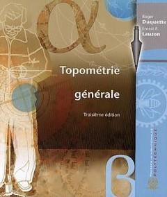 Couverture de l'ouvrage Topométrie générale