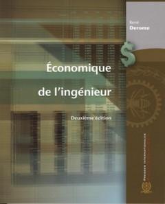 Couverture de l'ouvrage Economique de l'ingénieur