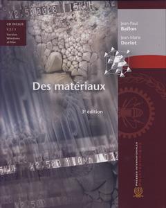 Couverture de l'ouvrage Des matériaux (3° Édition avec cédérom V. 2.1 Windows & Mac)
