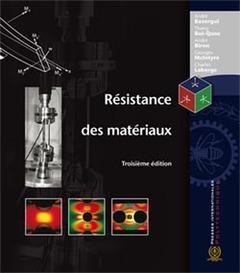 Couverture de l'ouvrage Résistance des matériaux