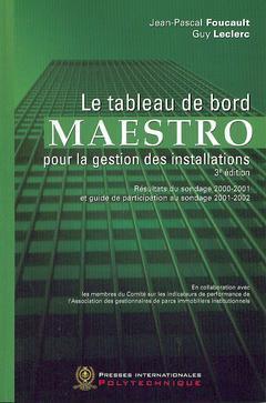 Couverture de l'ouvrage Le tableau de bord du Maestro pour la gestion des installations