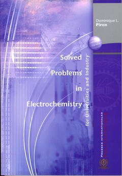 Couverture de l'ouvrage Solved Problems in Electrochemistry for Universities and Industry