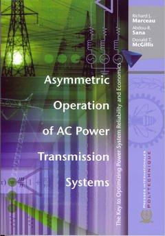 Couverture de l'ouvrage Asymmetric operation of AC power transmission system