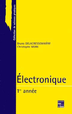 Couverture de l'ouvrage Electronique (1ère année)
