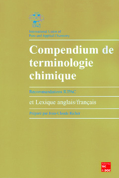 Couverture de l'ouvrage Compendium de terminologie chimique