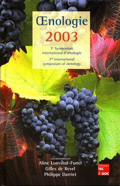 Couverture de l'ouvrage Œnologie 2003