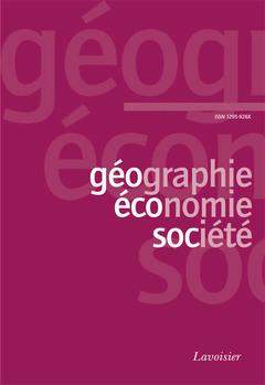 Couverture de l'ouvrage Géographie, économie, société Vol. 7 N° 1 Janvier-Mars 2005