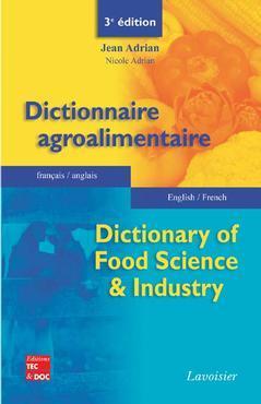 Couverture de l'ouvrage Dictionnaire agroalimentaire français-anglais / English-French