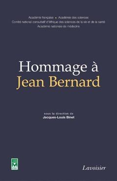 Couverture de l'ouvrage Hommage à Jean Bernard