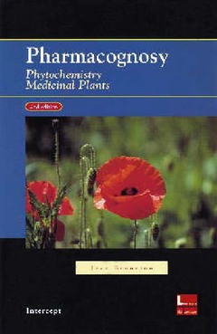 Couverture de l'ouvrage Pharmacognosy