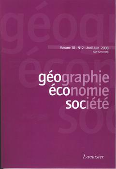 Couverture de l'ouvrage Géographie, économie, société Vol. 10 N° 2 Avril-Juin 2008