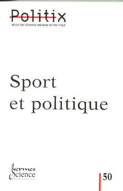 Couverture de l'ouvrage Sport et politique (revue Politix 2000, Vol.13 N° 50)