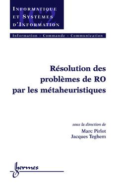 Couverture de l'ouvrage Résolution de problèmes de RO par les métaheuristiques