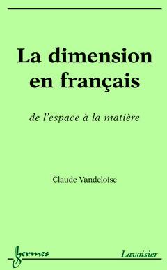 Couverture de l'ouvrage La dimension en français