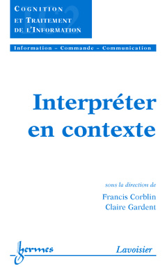 Couverture de l'ouvrage Interpréter en contexte