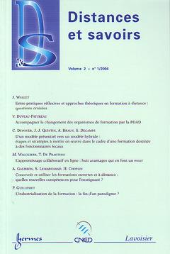 Couverture de l'ouvrage Distances et savoirs Vol. 2 N° 1/2004