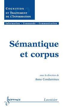 Couverture de l'ouvrage Sémantique et corpus