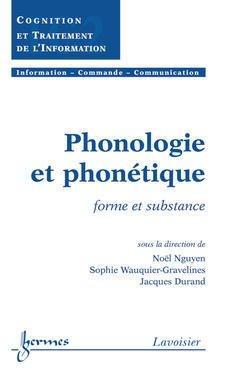 Couverture de l'ouvrage Phonologie et phonétique