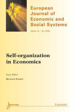 Couverture de l'ouvrage Self-organization in Economics (European Journal of Economic and Social Systems Vol. 18 N° 2/2005)