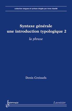 Couverture de l'ouvrage Syntaxe générale, une introduction typologique 2