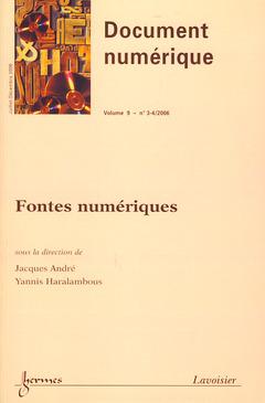 Couverture de l'ouvrage Fontes numériques (Document numérique Vol. 9 N° 3-4/2006)