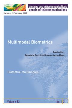 Couverture de l'ouvrage Multimodal Biometrics. Biométrie multimodale (Annales des télecommunications Vol. 62 N° 1-2 January/February 2007)