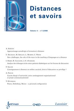 Couverture de l'ouvrage Distances et savoirs Vol. 6 N° 3/Juillet -Septembre 2008