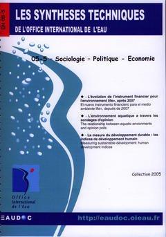 Couverture de l'ouvrage Sociologie - Politique - Economie (Les synthèses techniques de l'office international de l'eau, EN 05-5)