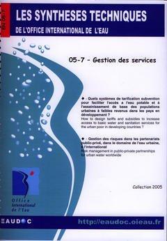 Couverture de l'ouvrage Gestion des services (Les synthèses techniques de l'office international de l'eau, EN 05-7)