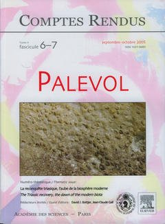 Couverture de l'ouvrage Comptes rendus Académie des sciences, Palevol, tome 4, fasc 6-7, SeptembreOctobre 2005 : la reconquête triasique, l'aube de la biosphère moderne...